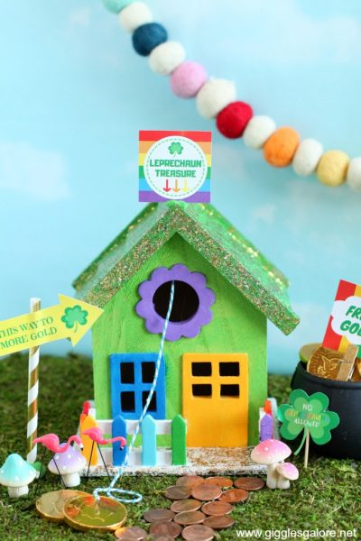 Painted leprechaun house trap