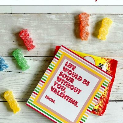 Sour Patch Kids Valentine's with Free Printable Tags