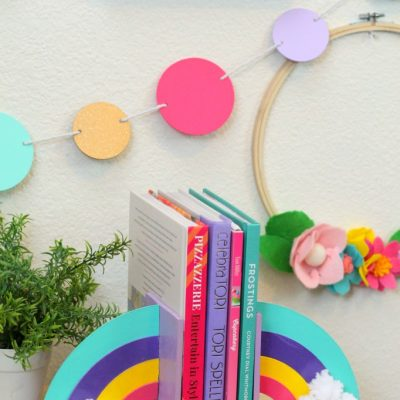 Cricut Maker DIY Rainbow Bookends