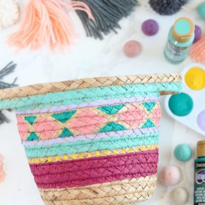 How to Paint Woven Baskets with Acrylic Paint