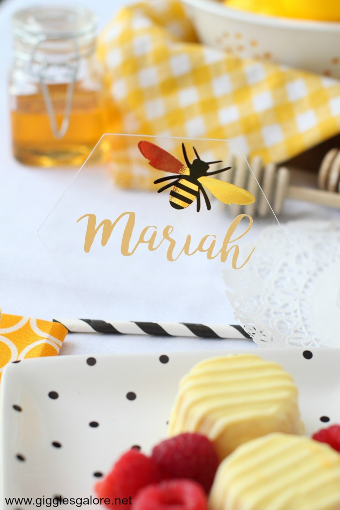 Diy hexagon bee placecards cricut maker