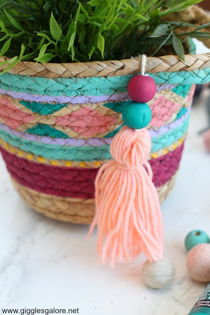 Diy painted basket step 4