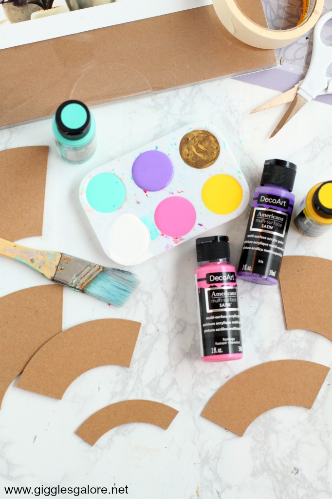 Diy rainbow bookend paint