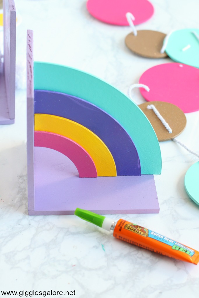 Diy rainbow bookend side