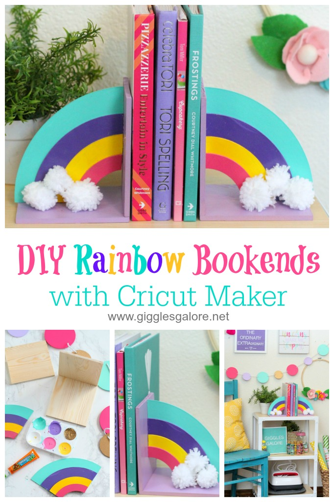 Diy rainbow bookends cricut maker knife blade