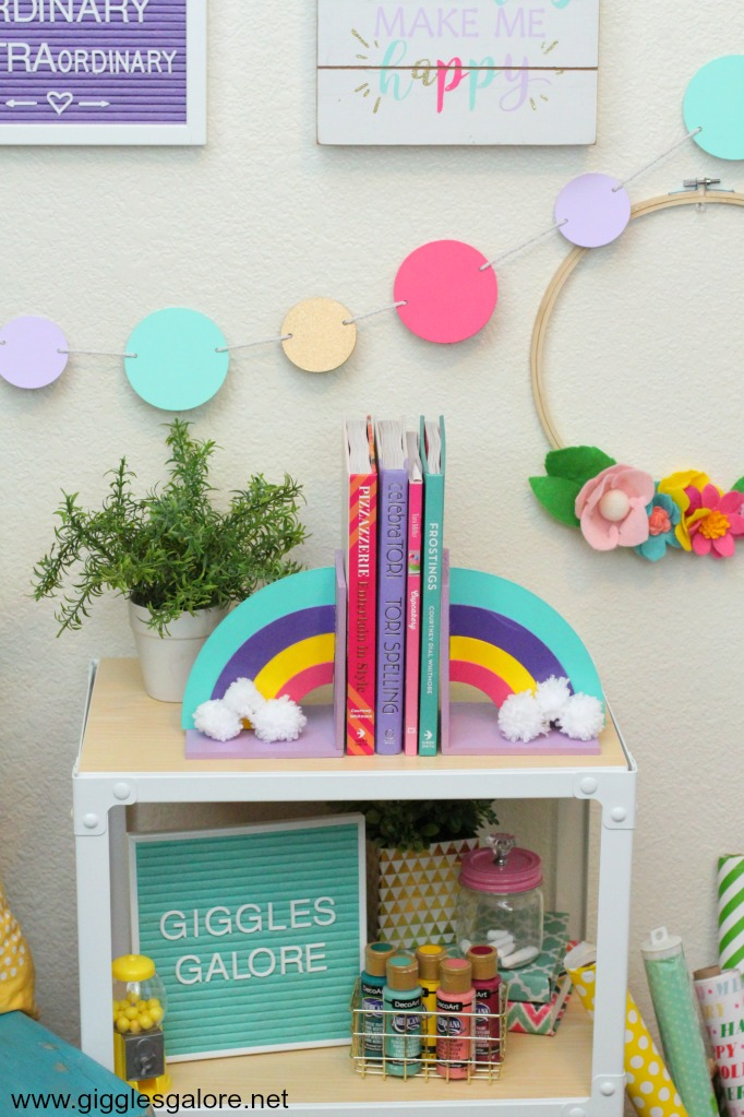 Diy rainbow bookends cricut maker