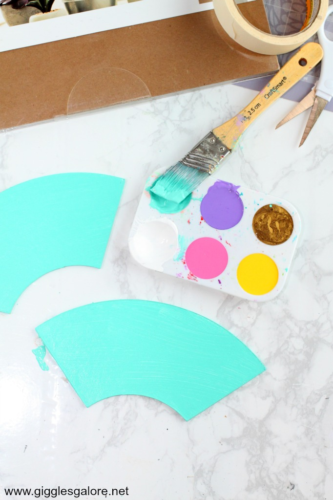 Diy rainbow bookends painted pieces