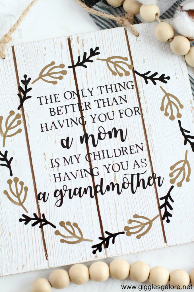 Farmhouse mothers day sign for grandma 1