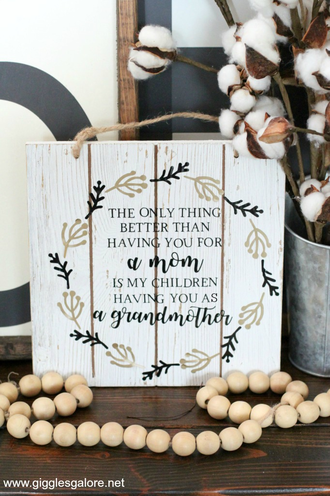 Farmhouse wood mothers day sign