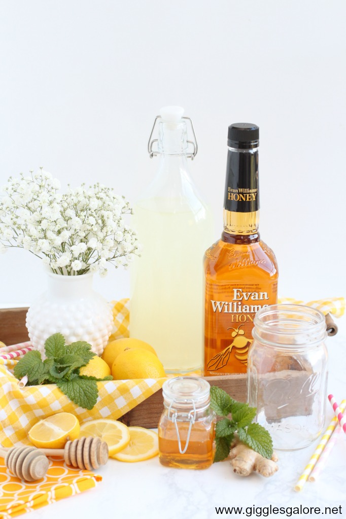 Honey ginger lemonade cocktail ingredients