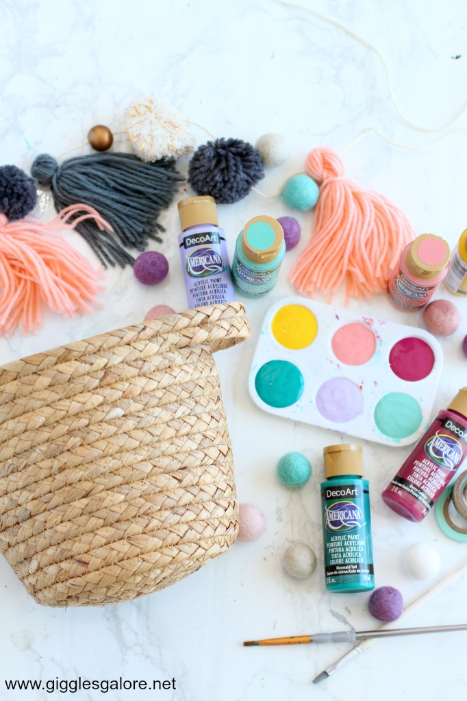 Painted basket supplies
