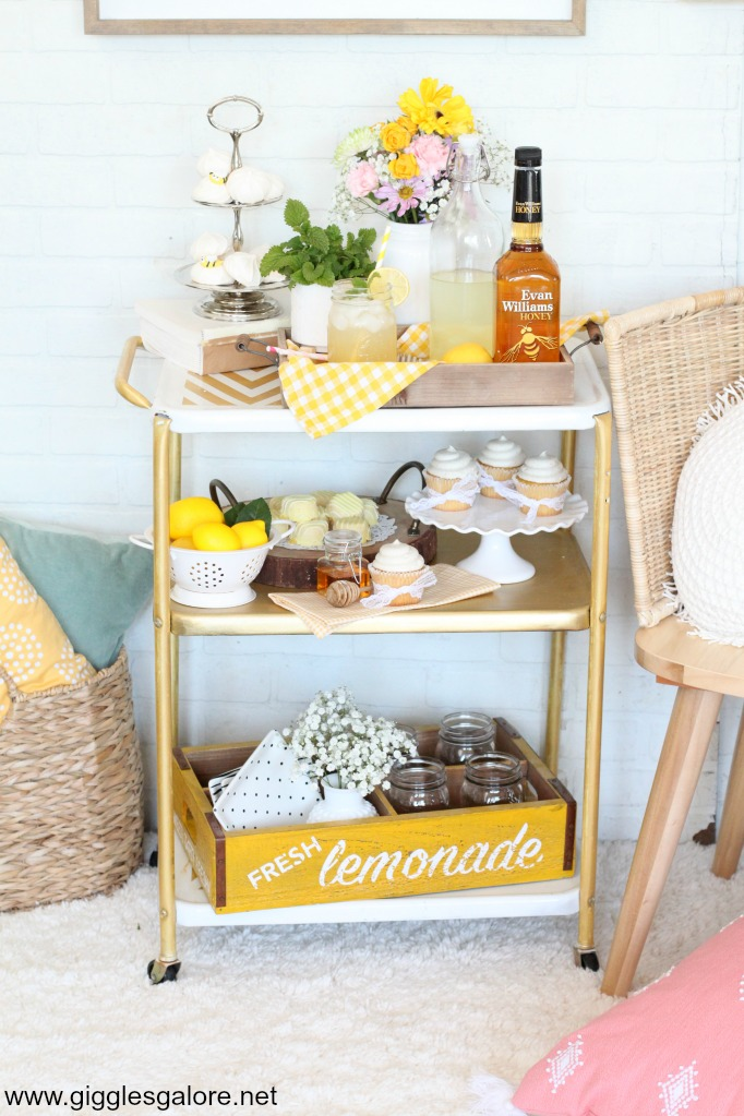 Spring brunch bar cart
