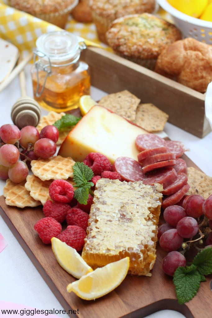 Spring brunch cheese board