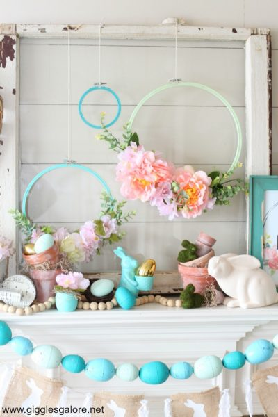 How to Decorate Spring Mantel