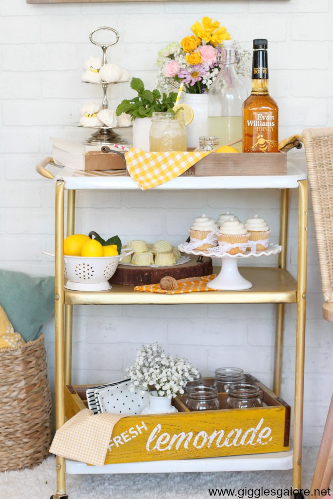 Springtime bar cart