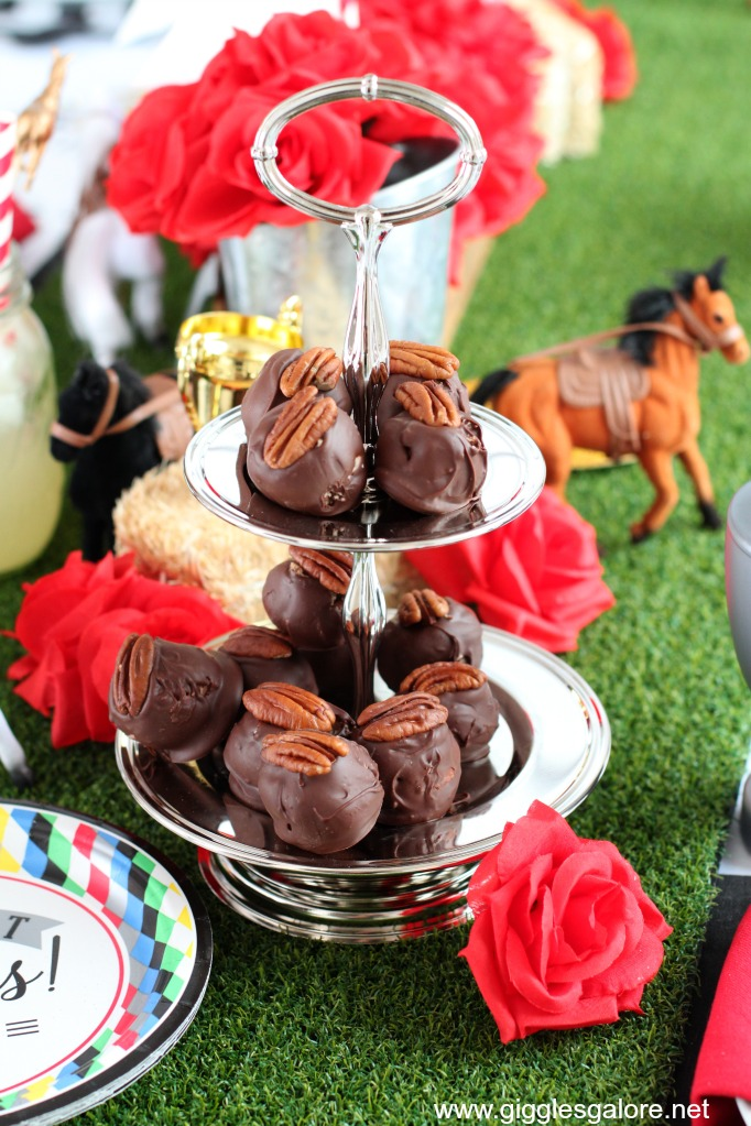 Derby day bourbon ball dessert