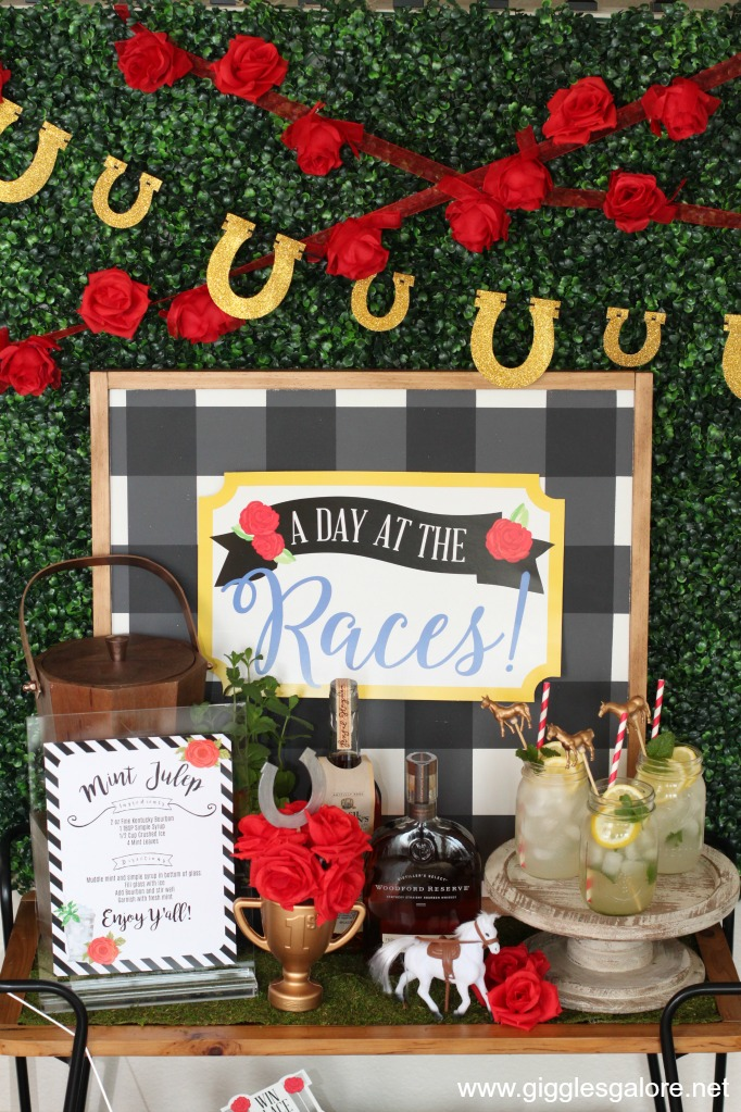 Derby day mint julep bar