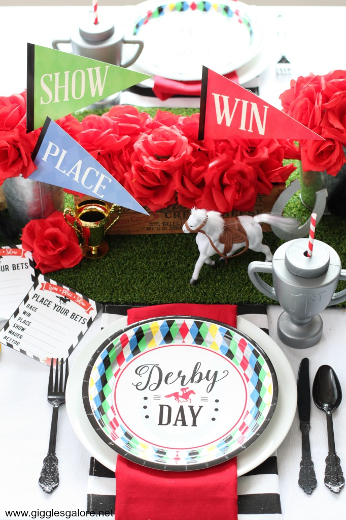 Derby day place setting