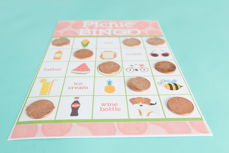 photograph regarding Bingo Chips Printable titled Picnic Bingo Playing cards- With Cost-free Printable! - Giggles Galore