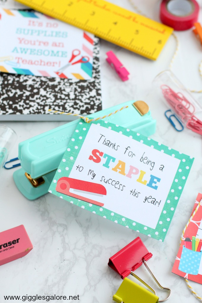 Staple teacher appreciation gift idea
