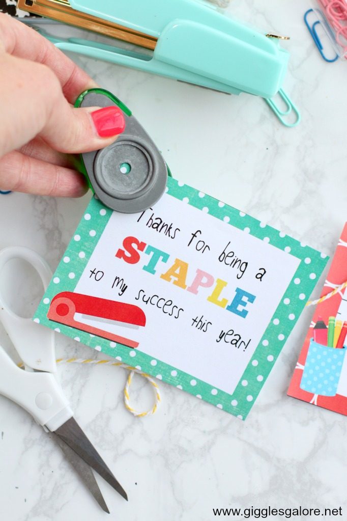 Teacher appreciation staple printable tag