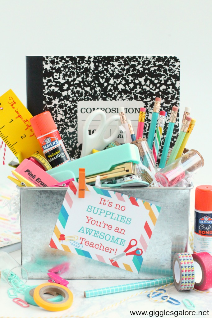 Teacher appreciation supply kit with free printable tags