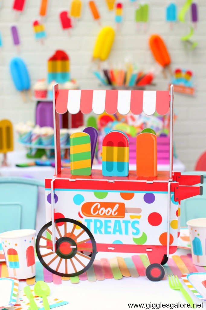 Cool treats popsicle centerpiece 1