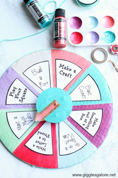 Diy summer boredom buster spinner giggles galore