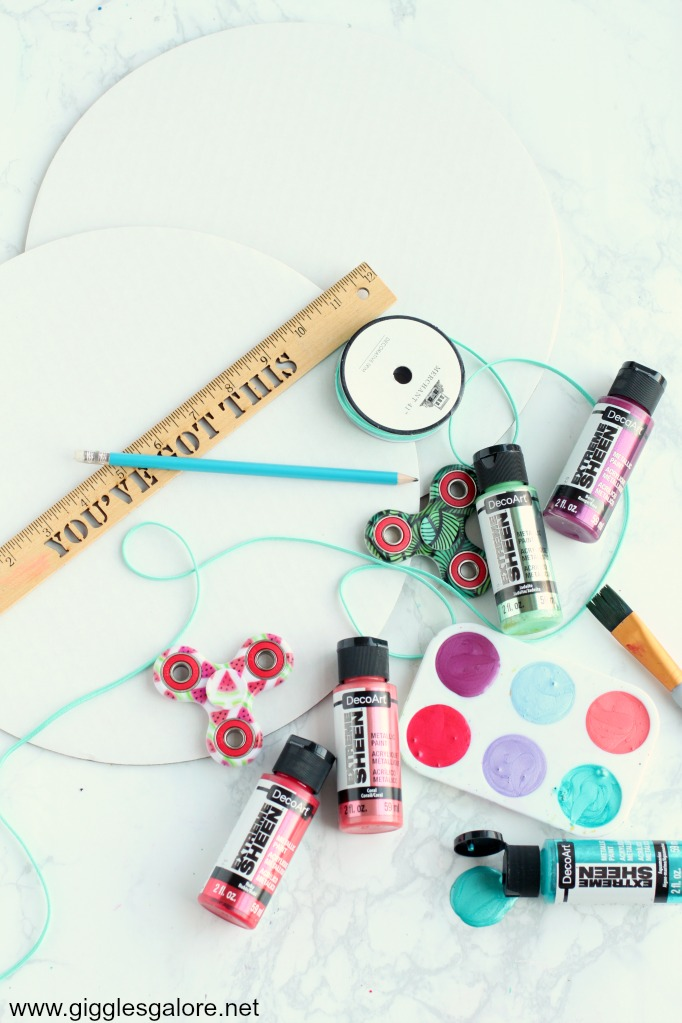 Diy summer boredom buster spinner supplies