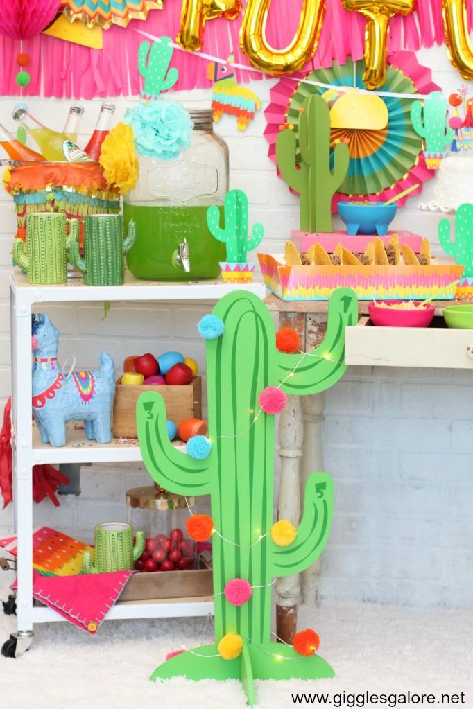 Fiesta cactus decor