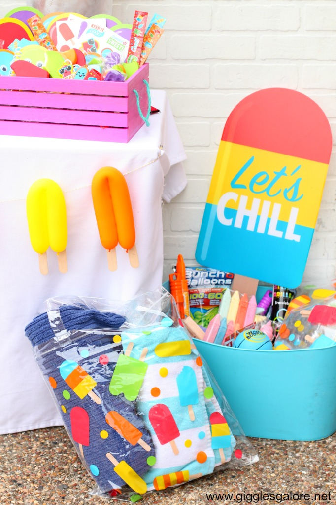 Lets chill popsicle decorations
