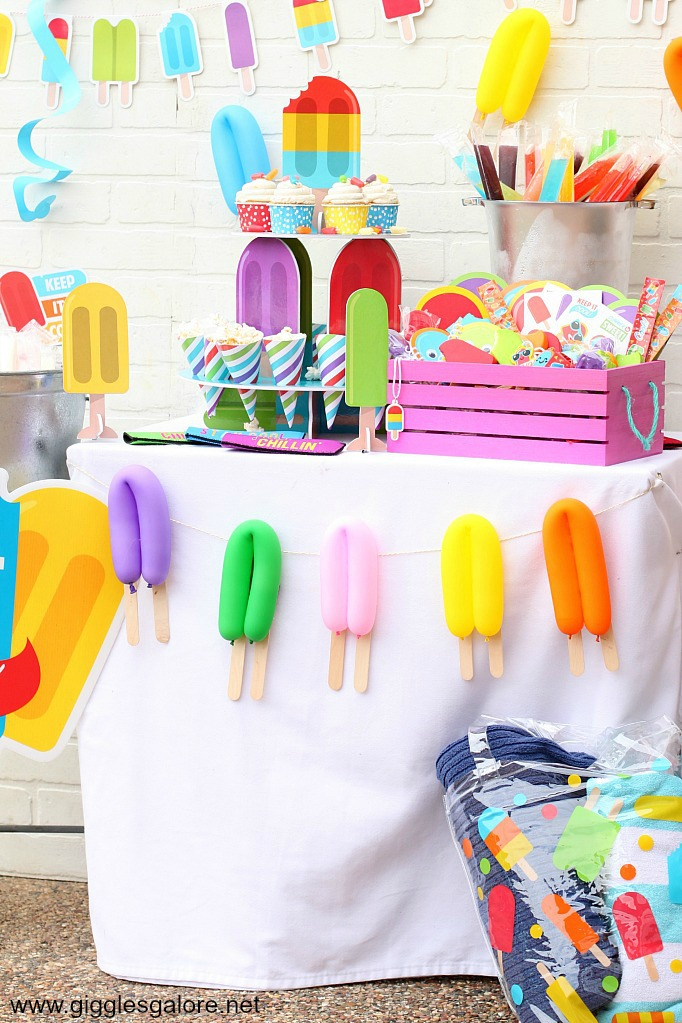 Popsicle balloon garland