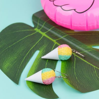 DIY Snow Cone Earrings