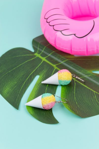 Snowcone earrings diy 13