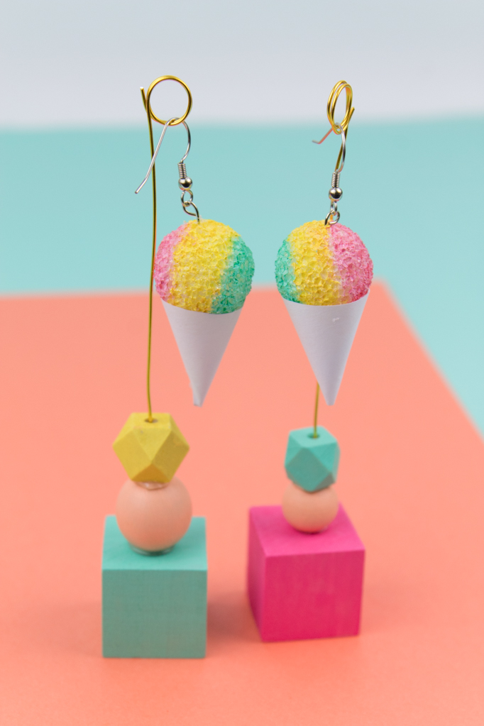 Snowcone earrings diy 17