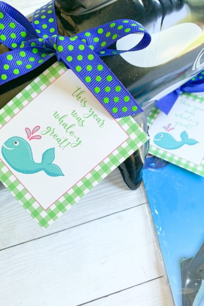 Whale y great end of year printables