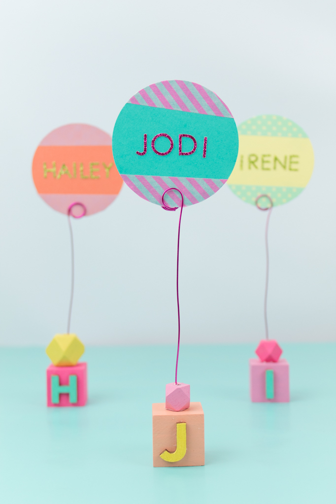 DIY Colorful Summer Place Card Holder