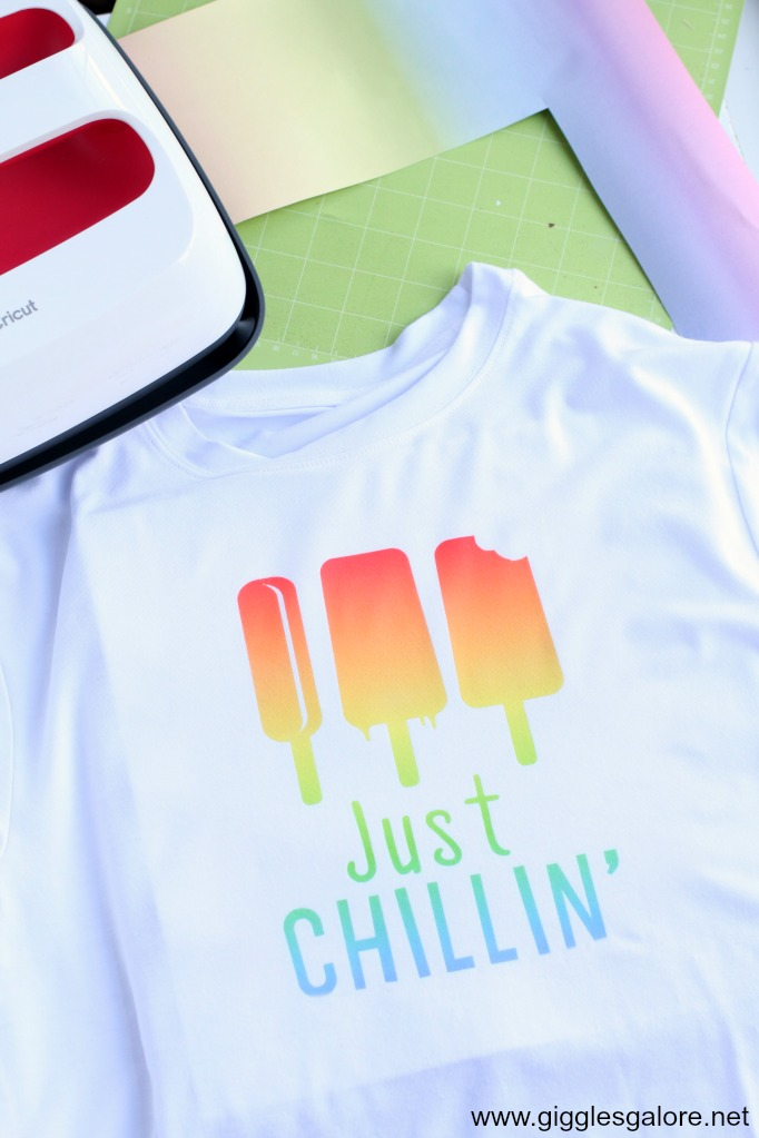 Cricut infusible ink just chillin popsicle shirt