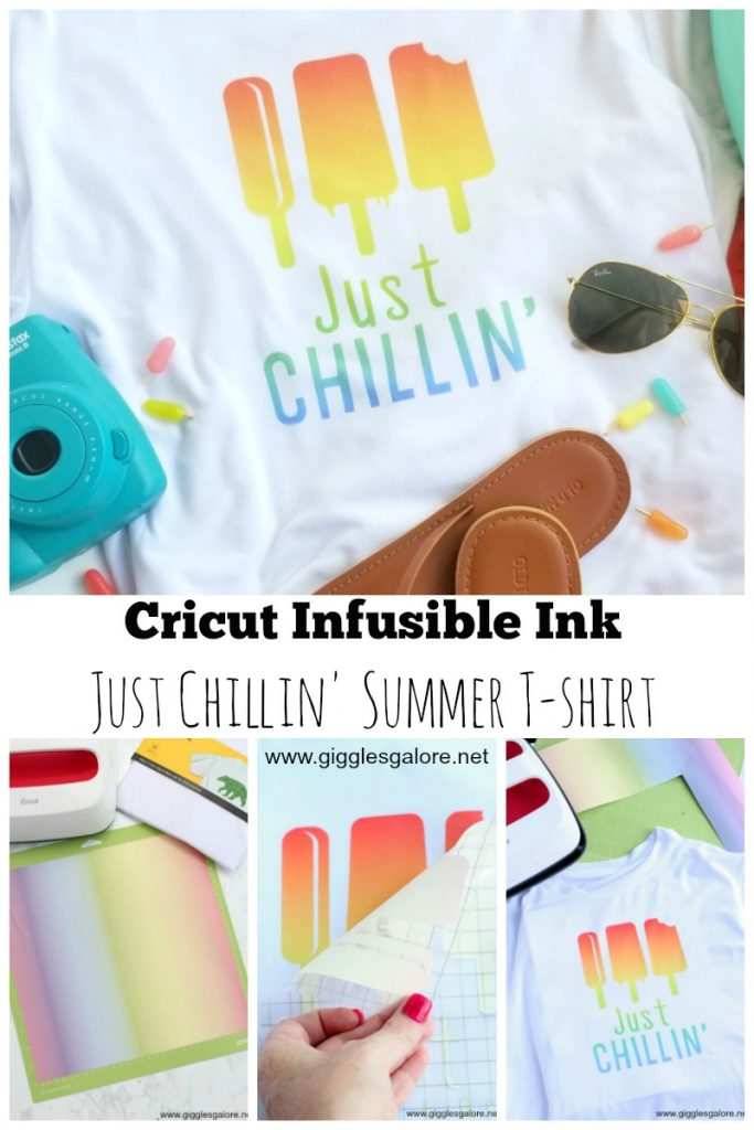Cricut infusible ink just chillin summer t shirt