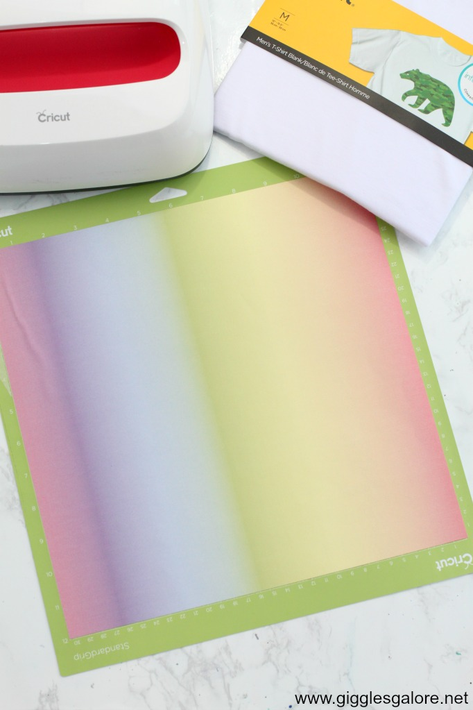 Cricut infusible ink rainbow transfer sheet