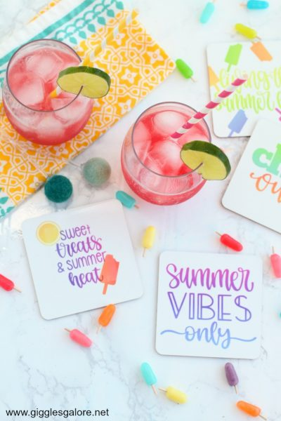 Diy summer coasters with cricut infusible ink