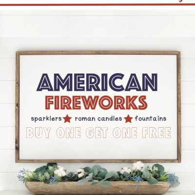 DIY Fireworks Stand Sign with Cricut EasyPress 2
