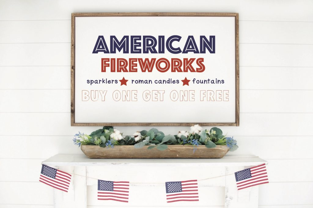 DIY 4th of July Fireworks Sign