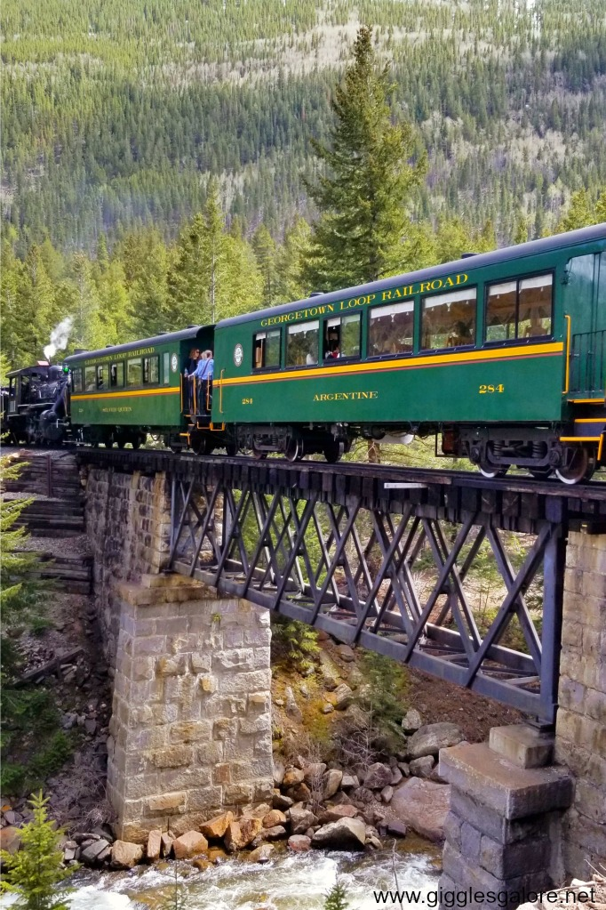Georgetown railroad loop scenic train ride