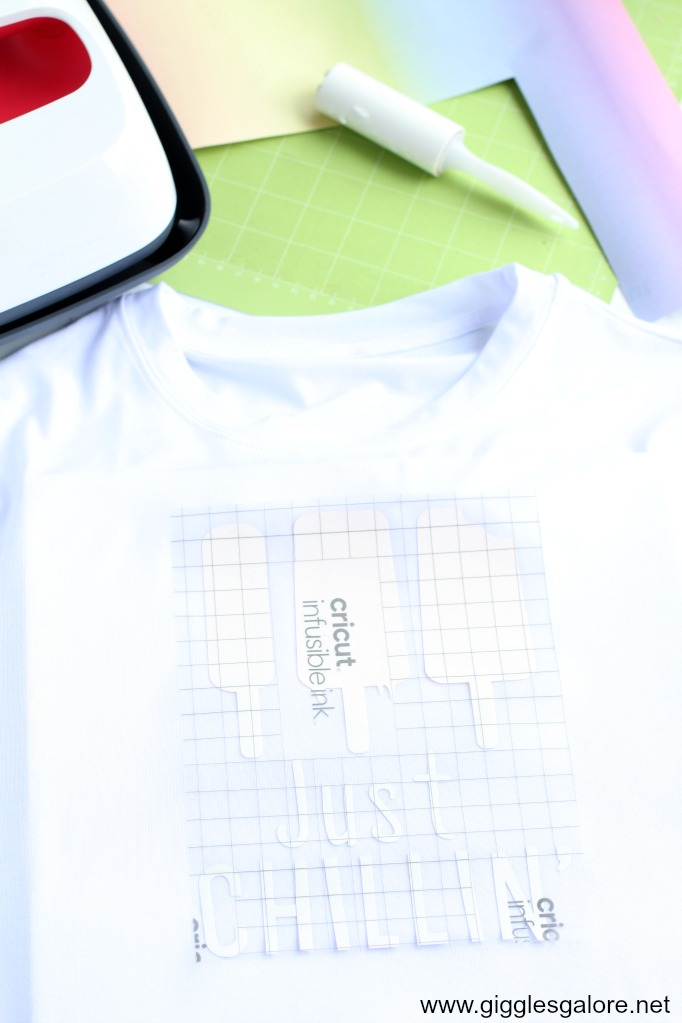 Infusible ink popsicle shirt transfer