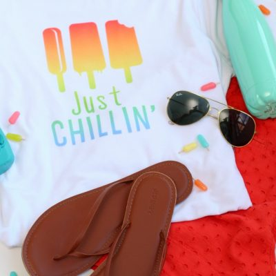 Cricut Infusible Ink Just Chillin' Summer T-shirt
