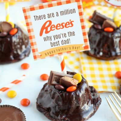 Reese's Bundt Cake with Free Father's Day Printable Tags