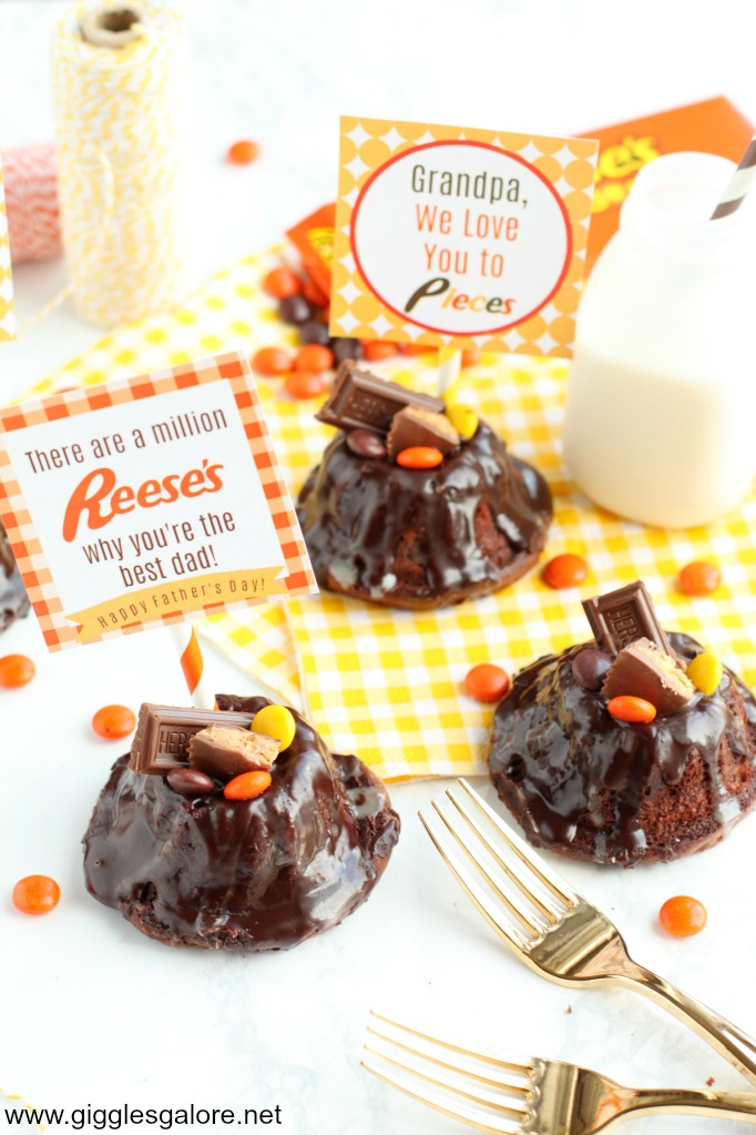 Reeses fathers day printable tag and dessert