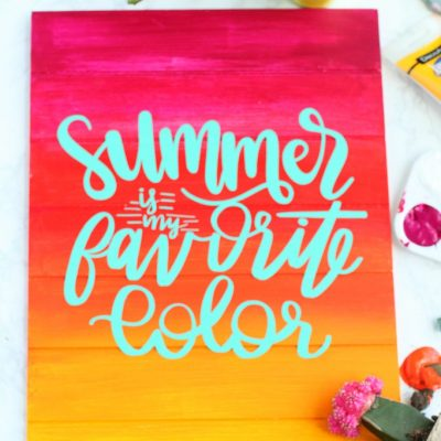 DIY Summer Sunset Pallet Sign Art