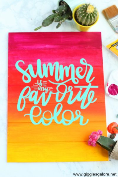 Summer is my favorite color sign